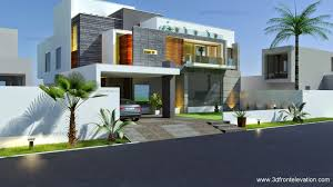 Contemporary House Plan 3d Front Elevation Com Beautiful Modern Contemporary House