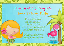 Birthday Party Invitation Card Luau Birthday Party Invitations Kawaiitheo Com