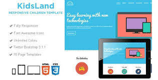 kids land educational template html bootstrap template