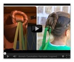 anna from frozen hairstyle frozen inspired annas coronation hairstyle tutorial cute girls