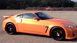orange nissan 350z 07 nissan 350z gtr style youtube