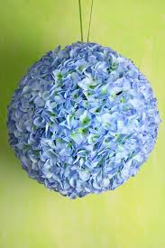silk hydrangea blue silk hydrangea balls hanging decorations wedding flowers