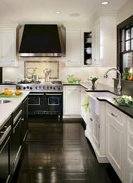 white kitchen cabinets black tile floor white cabinets with black countertops 12 inspiring designs