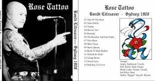 rock on vinyl rose tattoo live at bondi lifesaver 1980 ex sb