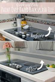 Backsplash Tile Paint by Paint Over Dated Backsplash Tile Food Fun Kids
