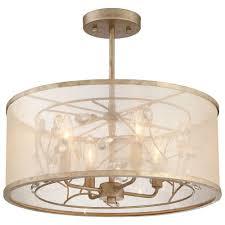 4 Light Semi Flush Ceiling Fixture by Minka Lavery Sara U0027s Jewel 4 Light Nanti Champagne Silver Semi