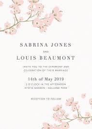 cherry blossom wedding invitations cherry blossoms wedding invitation papier