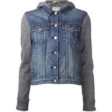 jean sweater jacket rag bone hooded jean jacket polyvore