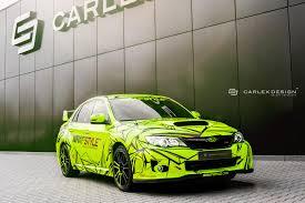 subaru green subaru impreza sti individual customers carlex design