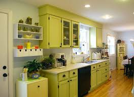 Kitchen Cabinet Painting Ideas Pictures Green Color Kitchen Cabinets Grey Mosaic Granite Countertop Mosaic