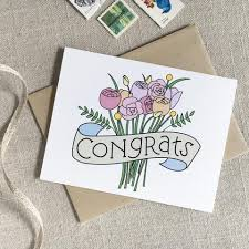 congrats wedding card congrats bouquet wedding card acbc design