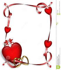 valentines day hearts border stock photo image 4101300