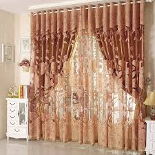 Curtains For Living Room Luxury Tulle For Windows Curtain Jacquard Embroidered Volie Sheer