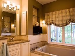 vintage bathroom decor with wall mounted flat screen tv 50456