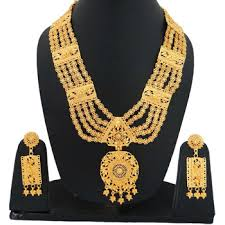 gold rani haar sets traditional south indian style rani haar necklace set gold plated
