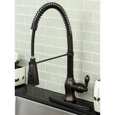 kitchen faucet bronze modern rubbed bronze spiral pull kitchen
