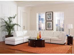 armless chair and ottoman set modern leather sectional living room corner armless chair ottoman va