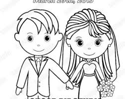 mini printable personalized wedding coloring activity book