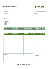 free printable invoice template word free invoice template
