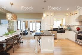 contemporary classic open concept design of kitchen dining room