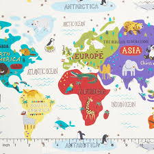 africa map fabric hello world world map yardage abi moda fabrics