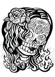 printable skull and crossbones images sugar skull color sugar skull