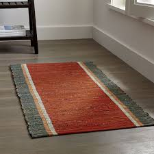 quentin orange cotton rug crate and barrel
