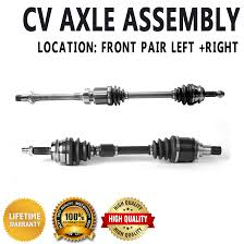 nissan maxima axle seal leak front left u0026 right cv drive axle shaft assembly pair for toyota