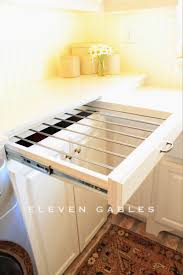 could the drying rack be added to the underside of an upper cabinet m diy slide out drying rack laundry room so smart