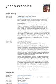 stocker resume samples visualcv resume samples database