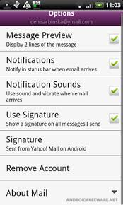 yahoo mail android yahoo mail for android free android app android freeware