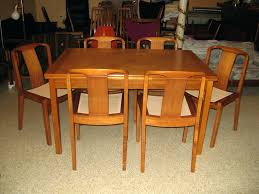 danish modern dining room furniture teak dining room table en s solid danish modern style from 1950s