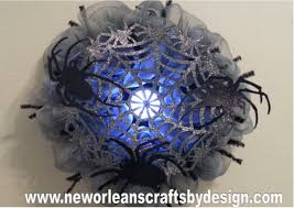 Halloween Deco Mesh Wreaths New Orleans Crafts By Design Halloween Spider Web Gray Deco Mesh