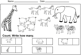 colouring sheets worksheets printable kindergarten counting