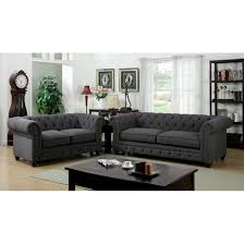 Tufted Living Room Furniture by Furniture Entranching Tufted Leather Sofa For Living Room