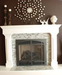 Travertine Fireplace Tile by Fireplace Mosaic Subway Polished Travertine White Mantel For