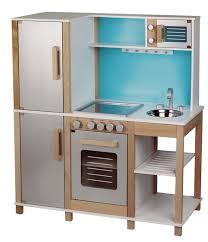 kinder spiel küche sun kinderspielküche aus holz natur beere türkis mit mikrowelle