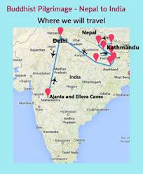 map of nepal and india pilgrimage to nepal and india 16 days