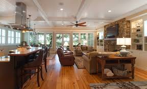 open floor plan living room traditional island home open floorplan kitchen and living room