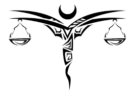 libra scales tattoo design polynesian tribal art just free image