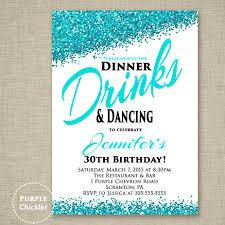 30th any age birthday invitation dinner drinks dancing invite