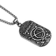 titanium dog tag necklace images Vintage zodiac horoscope sign titanium dog tag necklace 12 jpg