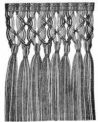 macramé is an arabic word signifying an ornamental fringe or