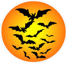 halloween decals halloween haunted moon with bats wall decor nostalgia decals