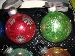 cricut christmas vinyl projects glitter christmas ornaments with