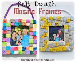 salt dough mosaic frames u2013 the pinterested parent