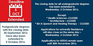 wits on 2017 applicants deadline extended to 5