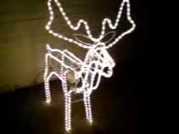 Animated Wire Frame Christmas Decorations by 3d Xmas Moving Head Reindeer Rope Light Youtube
