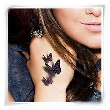 sticker 3d multicolor butterfly decals