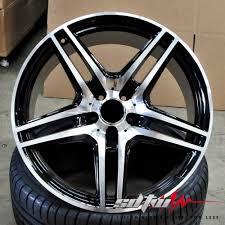 mercedes amg black rims 20 mercedes amg sl63 style wheels rims black machined fits s cl